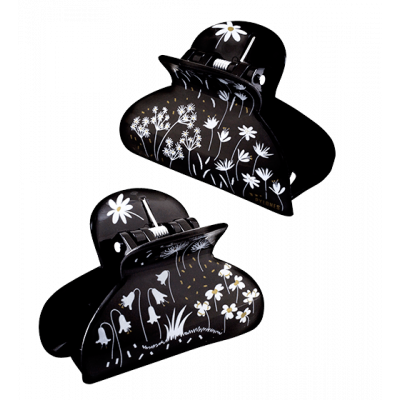 Crab hair clips - Ladyclip Small - Black Board