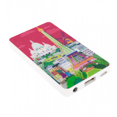 Batterie externe nomade - Get The Power 2800mAh - Paris rose