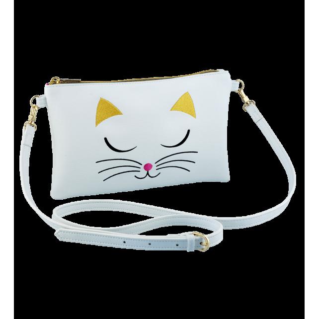 Umhängetasche - Brody White Cat