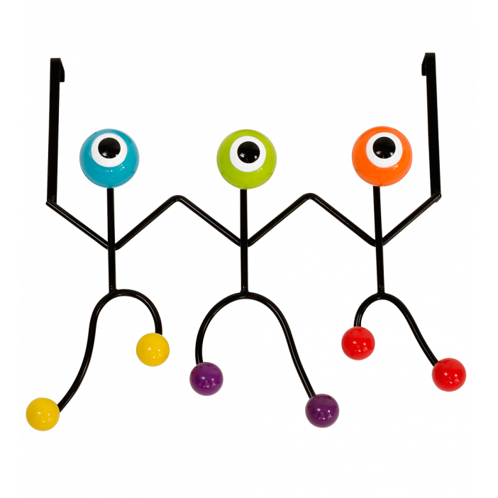 Coat rack 60's - Perroquet Black