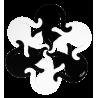 Heatproof mat - Entrechats Black / White
