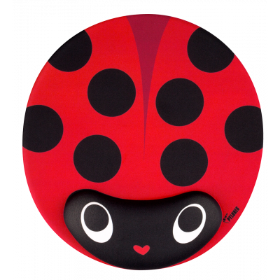 Mouse pad with wrist support - Ladybird