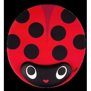 Tappetino mouse con poggiapolso - Coccinella