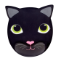 Ipanda - Tapis de souris avec repose poignet Chat