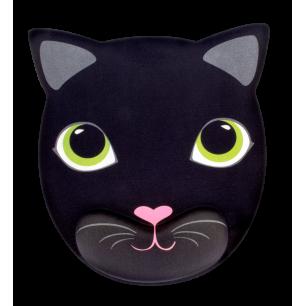 Tappetino mouse con poggiapolso - Gatto