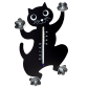 Thermo Animo - Thermomètre Schwarze Katze