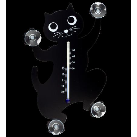 Thermo - Thermometer Schwarze Katze