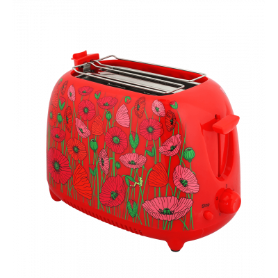 Toaster with UK plug - Tart'in - Coquelicots