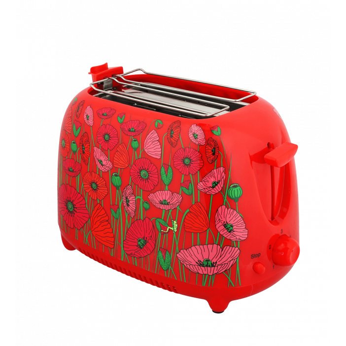 Toaster avec prise anglaise - Tart'in Coquelicots