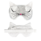 Eye mask - Cat my pearls White Cat