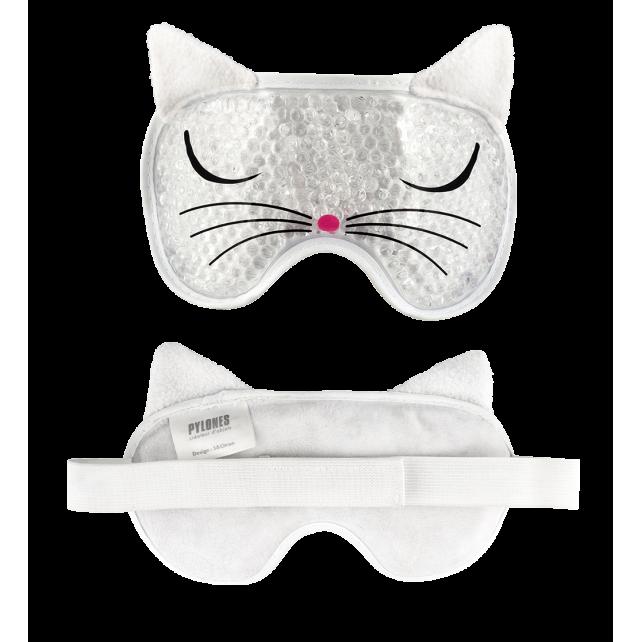 Eye mask - My pearls White Cat