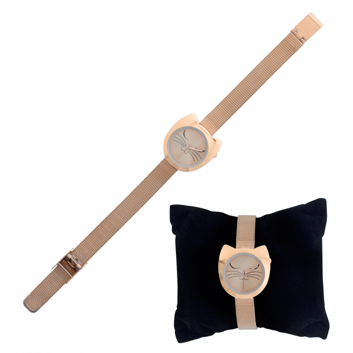 Montre - Watch My Cat Pink Gold Cat