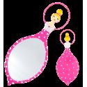 Glam Glam - Miroir face à main Rose