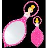 Glam Glam - Miroir face à main Pink