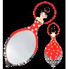 Glam Glam - Miroir face à main Rouge
