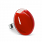 Galet Giga Milk - Bague en verre Light red
