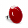 Galet Giga Milk - Bague en verre Dark red