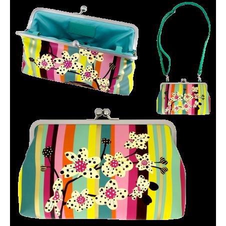 Clip Wide - Clasp clutch bag