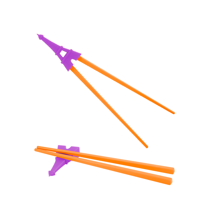Baguettes Chinoises - Rice To Meet You Violet / Orange