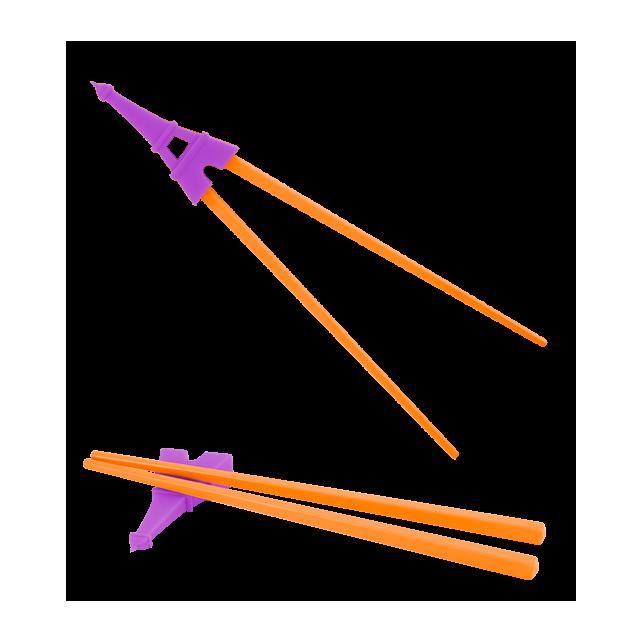 Essstäbchen - Rice To Meet You Violett / Orange