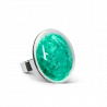 Galet Medium Paillettes Colors - Glass ring Turquoise