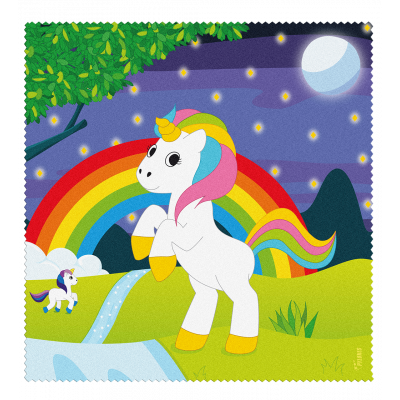 Microfibre cloth for glasses - Belle Vue - Unicorn