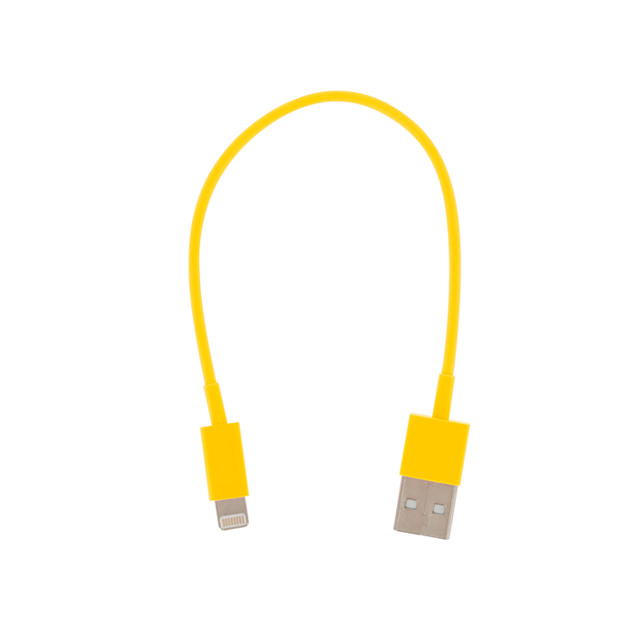 USB Lightning - Mini cable USB pour iPhone 5 Jaune