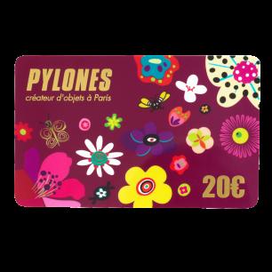 Carte Cadeau Pylones 10 €