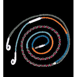 Ecouteurs avec micro - Salsa - Rose / Bleu