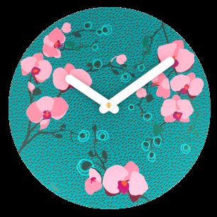Orologio da parete - Happy Time - Orchid Blue