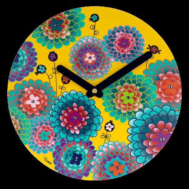 Clock - Happy Time Dahlia