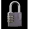 Flower Lock - Cadenas à combinaison Checkerboard