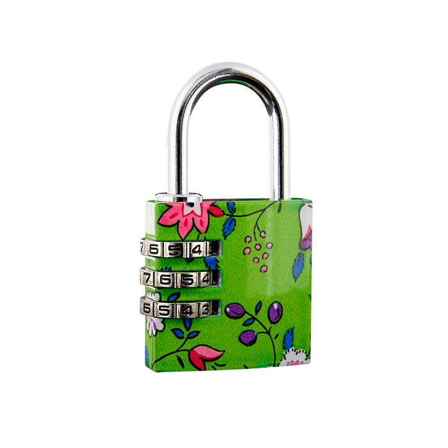 Flower Lock - Cadenas à combinaison Vert