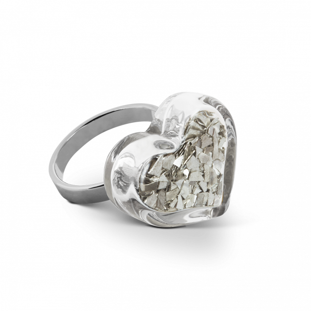 Glasring - Coeur Nano Paillettes