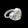 Glass ring - Coeur Nano Paillettes
