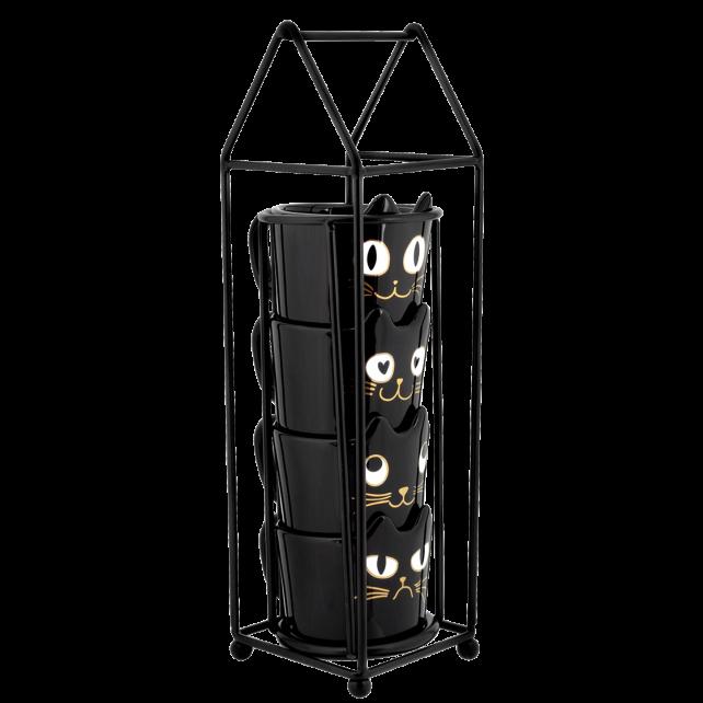 Cats House - Torre di tazze Nero