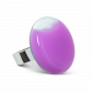 Bague en verre - Platine Medium Milk Violet
