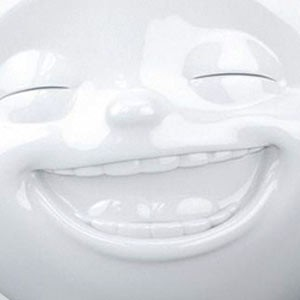 Lächelnd