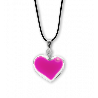Necklace - Coeur nano milk Pink