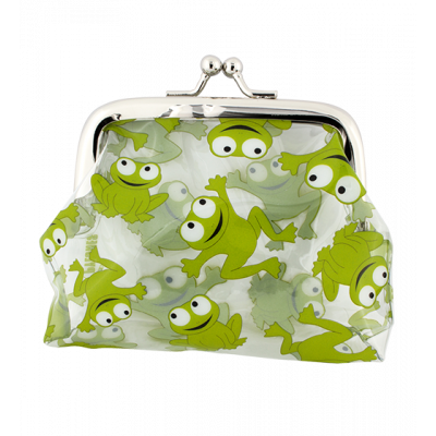 Purse with clasp close - Clipurse Frog