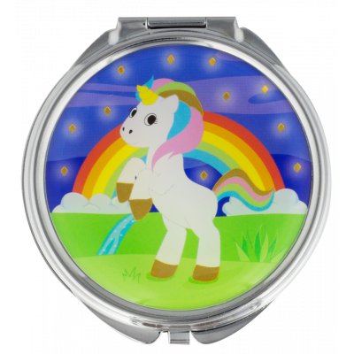 Pocket mirror - Lady Look Unicorn