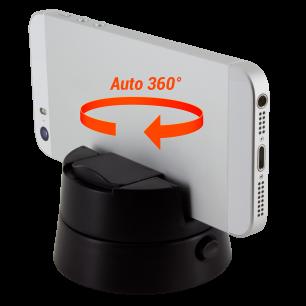 Supporto rotante a 360° per smartphone - Panorama Nero