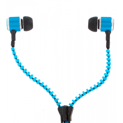 Earphones - Zipper Blue