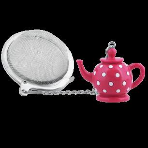 Tea Infuser - Teapot Pink