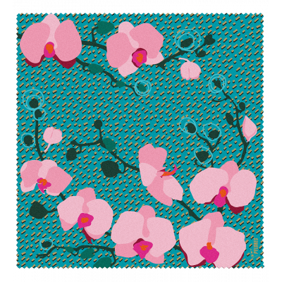 Microfibre cloth for glasses - Belle Vue Orchid Blue