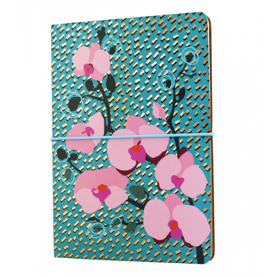 Double carnet A5 - Smart note Orchid Blue