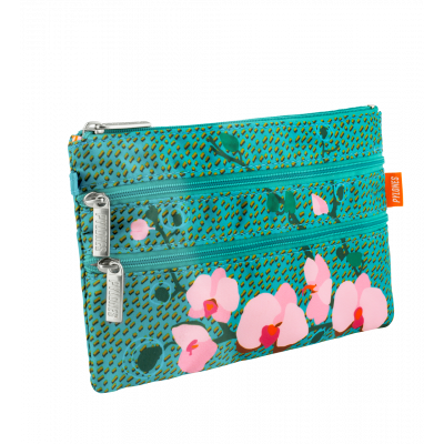 3 zip pouch - Zip It Orchid Blue