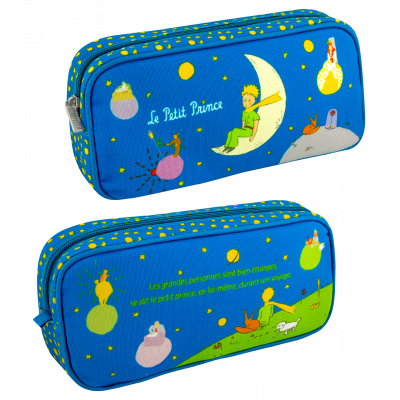 Rectangular pencil case - Planete Ecole Le Petit Prince Blue