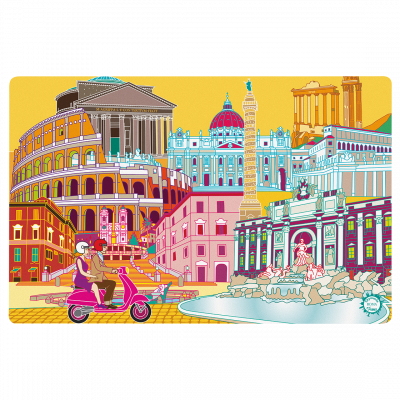 Placemat - Set my city Rome