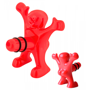 Tappo per bottiglia - Happyman Rosso